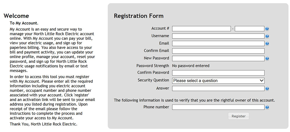 MyAccountRegistrationForm